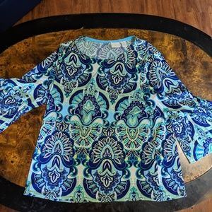 Chico's Bell Sleeve Top Size 1